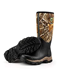 "TideWe Hunting Boots for Men, Insulated Waterproof Durable 16"" Men's Warm Hunting Boot, 6mm Neoprene and Rubber Outdoor Boot Realtree Edge Camo(400Gram & Standard)"