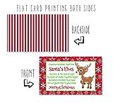 Santa's Magic Reindeer Food Tags Red Set of 15 Kids Christmas Elves Gift Labels