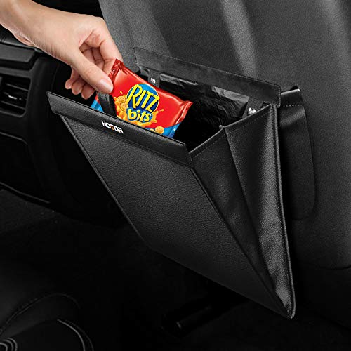 HOTOR Car Trash Can – Compact Trash Can for Organizing & Storing, Universal Car Trash Bag with Fashionable Design & Easy