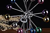 Fashionclubs Asteroid Perpetual Motion Revolving Ball Desk Sculpture Toy Christmas Gift