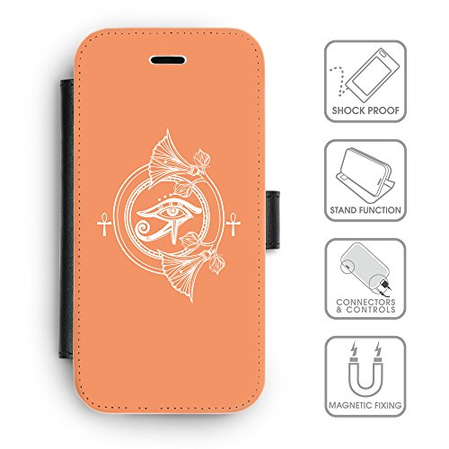 Flip PU Leather Wallet Case avec des fentes de carte de crédit // Q09830607 Religion 23 Mandarine // apple iPhone 6s 2015