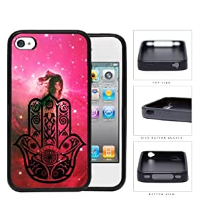 Colorful Hamsa Hand Nebula Series Hard Rubber Cell Phone Case Cover iPhone 4 4s (horse)