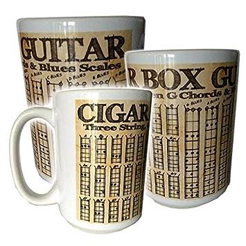 Amazon Cigar Box Guitar Chords Scales Coffee Mug Big 14 Oz