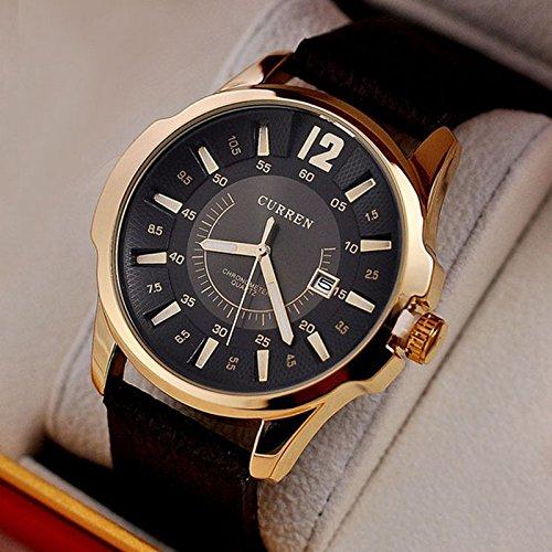 Hot Sale Casual CURREN 8123 Fashion - Reloj Correa de piel hombre Relojes Marca de lujo deporte cuarzo pulsera hombre regalo: Amazon.es: Relojes