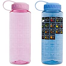 BellyBottle Pregnancy Gifts Water Bottle Intake Tracker with Weekly Stickers Calendar Journal a Pregnancy Must Haves Essentials - Gifts for Pregnant Women Moms Wife (Pink)