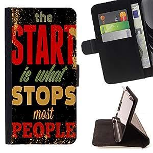 King Case - FOR Apple Iphone 4 / 4S - All men are mortal - Prima caja de la PU billetera de cuero con ranuras para tarjetas, efectivo Compartimiento desmontable y correa para la mu?eca