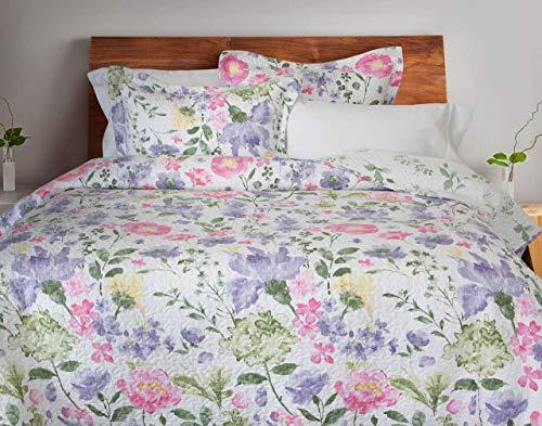 QE Home Lindsay Cotton Quilt Set (Twin, Pink)