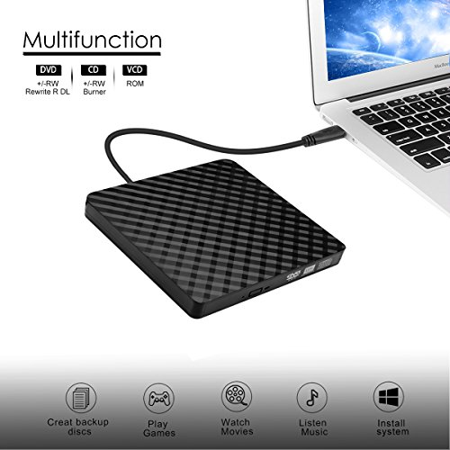 External CD Drive, BEVA USB 3.0 Portable CD DVD Reader DVD Drive External CD DVD Player Burner RW Writer, Copier for Laptop, Desktop, Mac, Support Windows 7/8/ 10/ XP/Mac OS by BEVA (Image #4)