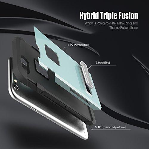 Obliq OBIP6S-SLA02 Skyline Advance Fall mit Standplatz für Apple iPhone 6/6S space grau