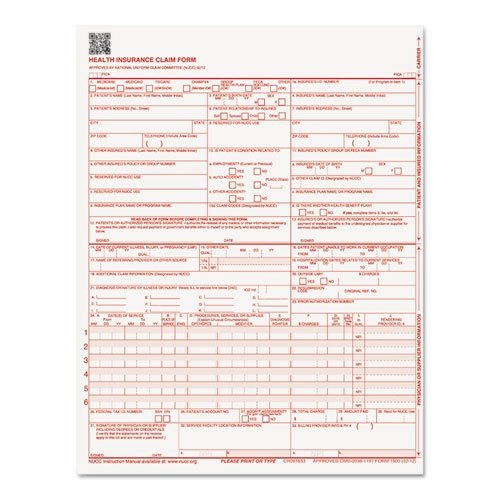 Paris Business Products CMS Forms, 8-1/2'' x 11'', 250 Pack (PRB07104)
