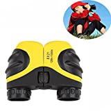 Binoculars for Bird Watching Kids, DIMY Compact 8x21 Shock Proof Telescope for Teens Yellow DL03