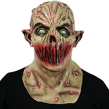 Laemilia Halloween Kostum Maske Zombie Blut Latex Maske Horror