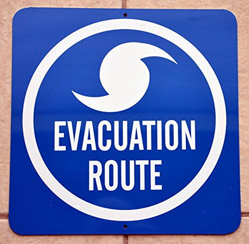 Hurricane Evacuation Plan: 1 Grab Beer 2 Run Tin Sign for Bar, Man Cave, Garage - Hurricane Evacuation Sign