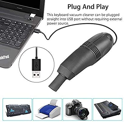 Pouybie Cepillo de Teclado Aspirador con Cepillo para Computer ...