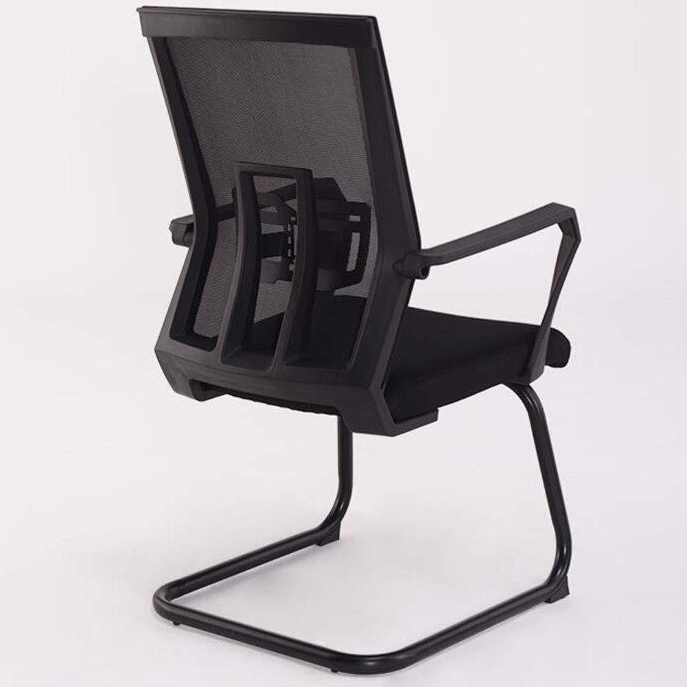 DBL Miljökontor stol hög täthet tjockt skum korrosion kvalitet nättyger bra praktiska skrivbordsstolar (färg: Röd) Svart