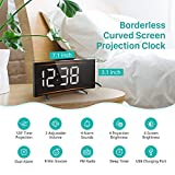 PICTEK Projection Digital Alarm Clock Radio for