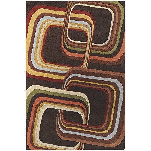 Surya Forum FM-7007 Hand Tufted 100% Wool Coffee Bean 10' x 14' Area Rug (10' Turtle Plush)