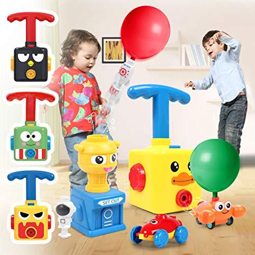 Balloon Powered Launch Car, Balloon Air Powered Vehicle Set, Balloon Race Car Toy Creative Inflatable Balloon Pump Car, STEM Toys Gift for Kids with 12 Balloons (Black Bird)