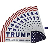 10 Packs Donald Trump Make America Great Again Bumper Sticker for Presidential Election 2016 (3x9