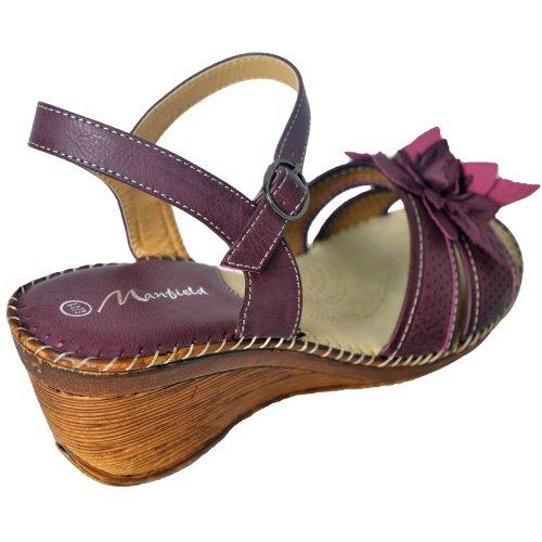 Para mujer Dr Keller perforado zapatos de verano en 2colores ciruela