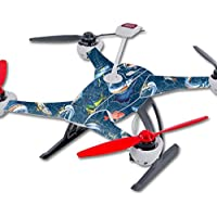 Skin For Blade 350 QX3 Drone – Saltwater Compass | MightySkins Protective, Durable, and Unique Vinyl Decal wrap cover | Easy To Apply, Remove, and Change Styles | Made in the USA