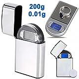 ZHCHL 0.01g x 200g Gram Mini Digital Pocket lighter Scale Jewelry Diamond Weight (Size: 0.01g x 200g)