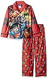 DC Comics Boys' Big Justice League Coat Pj Set, Button Front Top,