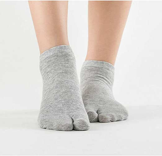 Purple Flip-Flops Big Toe Cotton Socks 1 Pair Solid Color Womens Soft Socks
