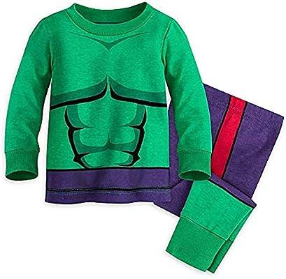 Disney Marvel Hulk PJ PALS Set Baby Size 9-12 MO Green