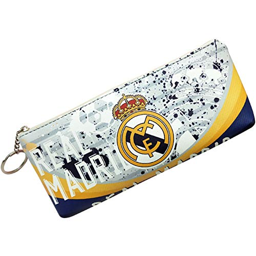 HZIJUE Real Madrid Soccer Team Pencil Case Marker Portable Storage Accessory Case