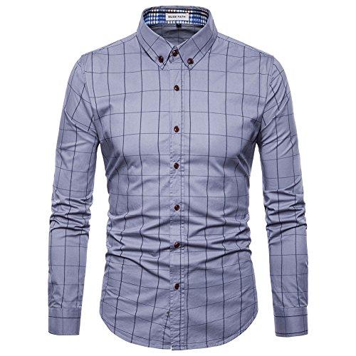 MUSE FATH Mens Long Sleeve Dress Shirt-Easycare Long Sleeve