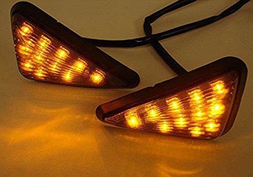 AV SUPPLY Smoke Triangle Flush Mount LED Turn Signals Lights