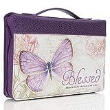 Purple Botanic Butterfly Blessings Fashion Bible