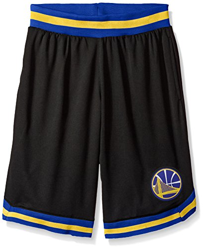 fan products of NBA Men's Golden State Warriors Mesh Basketball Shorts Woven Active Basic, Medium, Black
