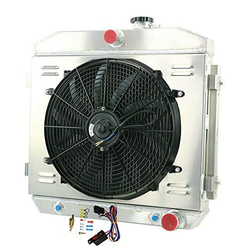 (OzCoolingParts 3 Row Core Aluminum Radiator + 2 x 10