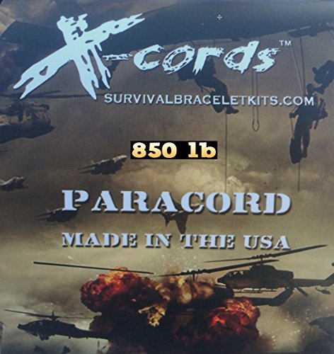 X-CORDS Paracord 850 Lb Stronger Than 550 and 750 Made by Us Government Certified Contractor (100' Black ON Spool) by X-CORDS (Image #4)