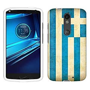 Motorola Droid Turbo 2 Case, Snap On Cover by Trek Greek Vintage Flag Case