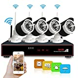 Wireless Security Camera System, Hi-Tech 4CH 1080p NVR with (4) Bullet Cameras with Night Vision, Motion Detection, iOS Android App Remote Access Review