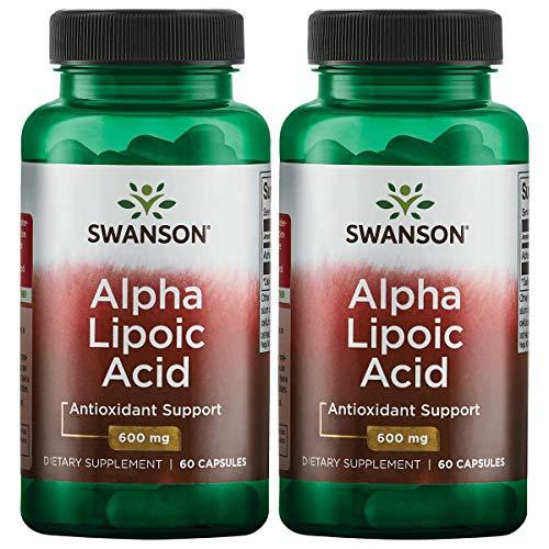Swanson Alpha Lipoic Acid 600 mg 60 Caps 2 Pack