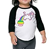 Lisenict Cupcake Unicorn Children 3/4 Sleeve Tee Size4 Toddler