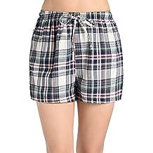 Latuza Women's Plaid Sleep Shorts