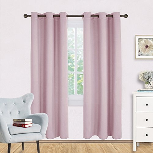 Blackout Curtain Panels for Girls Room - NICETOWN Nursery Essential Thermal Insulated Solid Grommet Top Blackout Draperies / Drapes (1 Pair,42 x 72 Inch in Baby (Nursery Bedroom Sets)