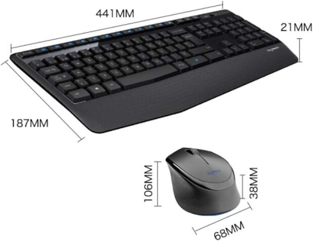 Stick core Waterproof Color : Black Enjoy Comfortably. with Wireless 2.4G Receiver Office Mouse and Keyboard Set Hongyushanghang Mechanical Keyboard Black Wireless Mouse and Keyboard Set