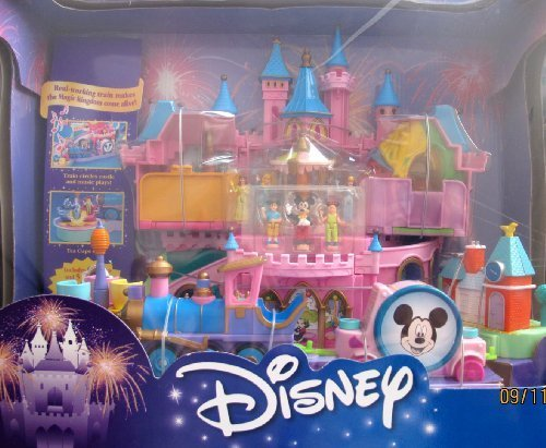 Disney Magical Miniatures MAGIC KINGDOM CASTLE Playset w MUSIC, Working TRAIN, 6 FIGURES & More! (2000) by Disney's Magic Kingdom Castle Playset Magic Kingdom Train