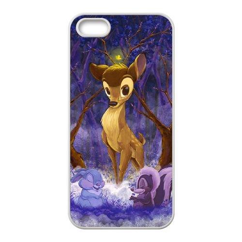 Bambi coque iPhone 5 5S Housse Blanc téléphone portable couverture de cas coque EBDOBCKCO10456