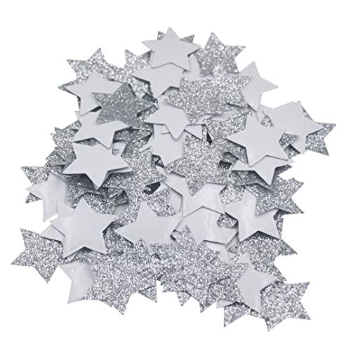 - Mybbshower 1.5 inch Silver Glitter Adhesive Star Favors Stickers for New Year Star Decorations Envelope Seals Pack of 150