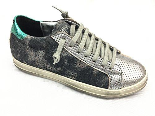 Cordones P448 Mujer de Zapatos John Oxide Oxide para P1q1ABI