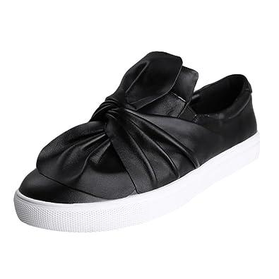 MatchLife Damen Knot Bogen Slip On Schuhe Casual Sneakers Style1-Schwarz EU34=Asian35 jKBXrnBIsm
