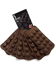 6 Pack Silicone Candy Molds + EBook With 5 Candy Recipes - Silicone Molds For Fat Bombs - Candy Molds Silicone - Chocolate Molds Silicon Molds Candy Mold Silicon Mold Hard Candy Molds Fat Bomb Molds