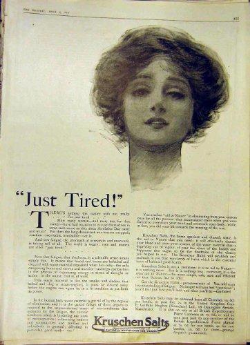Kruschen Salts Advert Medical Old Print 1919